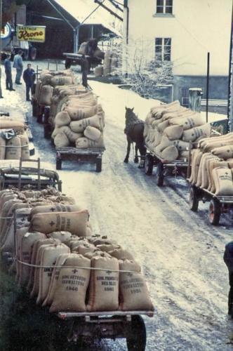 Mühle Getreideannahme